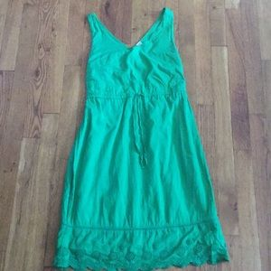 Old Navy green cotton dress